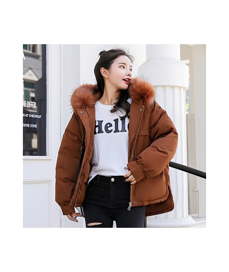 Winter women jacket coat Thick warm big fur collar oxford fabric windproof short parkas coat Sintepon padded jackets outwear...