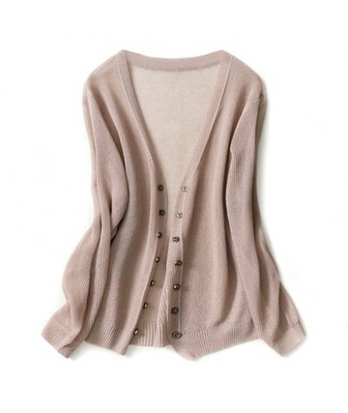Autumn new knit cardigan solid color simple fashion breathable soft and comfortable loose short sweater cardigan-- Lotus col...