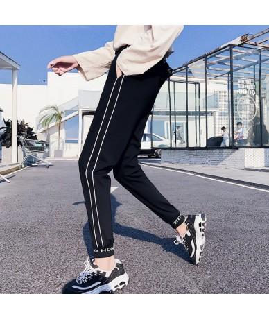 Korean style Harem Pants Casual Hip Hop spring Autumn Joggers women Trousers letter Print black Pant Cool Lady Capris street...