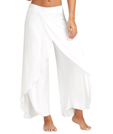 5XL Women Solid Casual Wide Leg Long Harem India Joga Pants Ladies High Waist Loose Elastic Waist Trousers Plus Size Beach P...
