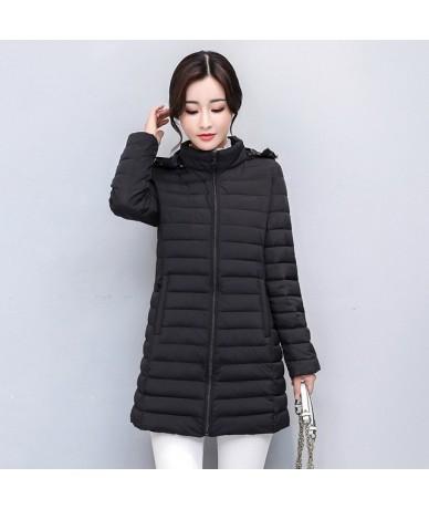 2019 Women Winter Jacket Autmn Outwear Hooded Padded Long Female Coat Plus Size 3XL 4XL Womens Parka Abrigos Mujer Invierno ...