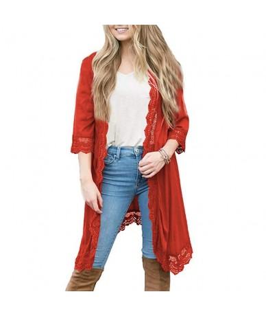 Women Fashion Lace Cardigan Femme Tops and Blouses Long Sleeve kimono Loose Harajuku Shirt Autumn blusas femininas elegante ...