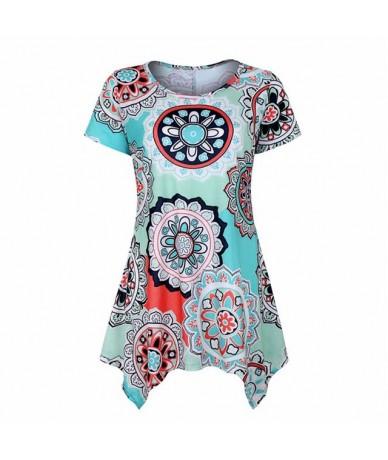 2019 New Summer Tops Fashion Women Casual Streetwear O-Neck Sleeveless Print Irregular Tank top Loose Plus Size Female T Shi...