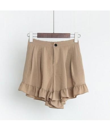Korean New High Elastic Waist Cute Soft Sister Shorts For Women Summer Japanese Slim Casual Ruffle Shorts Female Wide Leg Sh...
