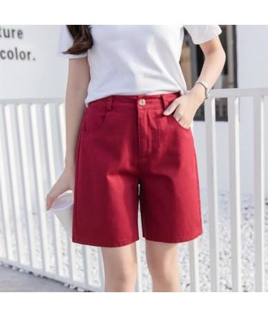 Shorts Women 2019 Summer New Casual Student Short Pants Solid Color Slim Plus Size Elastic Waist Short Femme Elegant Hot Sho...