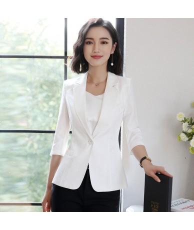 Fashion Autumn Women Blazers and Jackets Work Office Lady Suit Slim 4colors singel Button Business female blazer Coat plus s...