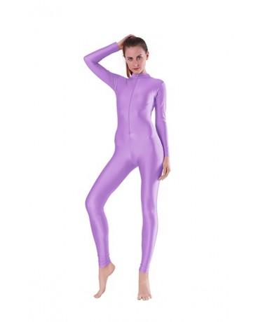 Black V Neck Sexy Bodycon Jumpsuit Romper Long Sleeve Unitard for Women Zipper Jumpsuits Elegant Full Length Playsuits - Lav...