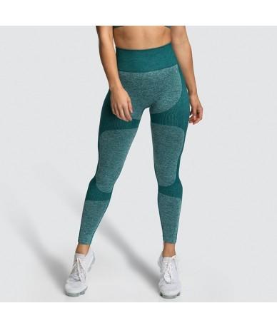 Printed Seamless Fitness Leggings Women High Waist Push Up Leggings Ladies Workout Elastic Skinny Pants Drop Shipping - Gree...