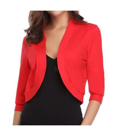 2019 Fashion Cardigan Womens Jacket Crop Top Bolero Shrug Open Front Design Plus Size Cropped Charms Cardigans Half Sleeve T...