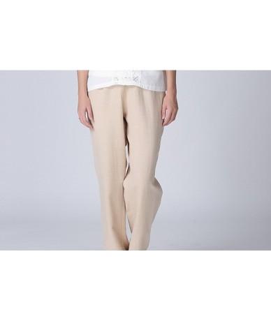 2018 spring summer new women's casual linen trousers pants high quality home wear loose cotton linen pants plus size 2xl-7xl...