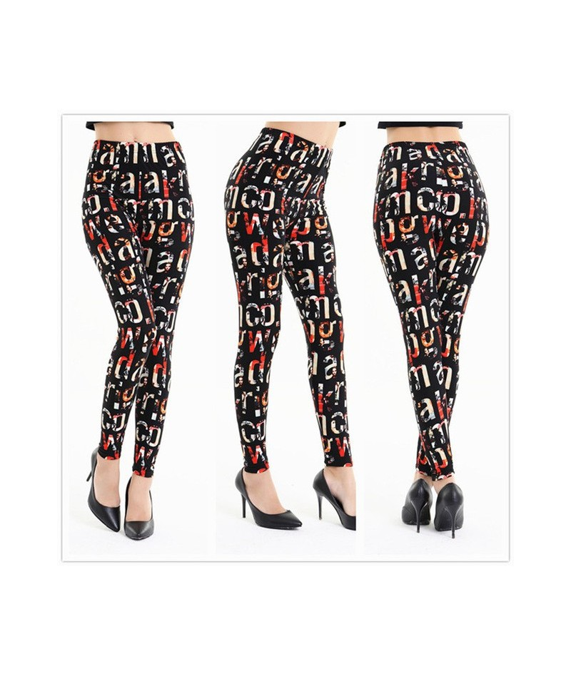 New Musical Note Printing Women Sexy Leggings High Waist Female Fitness Elasticity Pant Leggins Casual Clothing For Women - ...