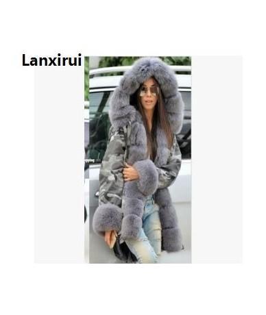 New Women Parka Casual Warm Outwear Hooded Coat Fur Manteau Woman Clothes - 7 - 403013419295-7