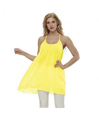 Plus Size 5XL Lady Sundress Women Summer Beach Dresses Chiffon Voile Female Dress Fluorescence Women Clothing Vestidos - Yel...