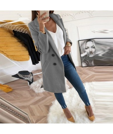 2019 Autumn Winter Woman Solid Plus Size 3xl Fashion Woollen Overcoat Long Sleeve Fashion Oversize Outwear Jacket And Coats ...