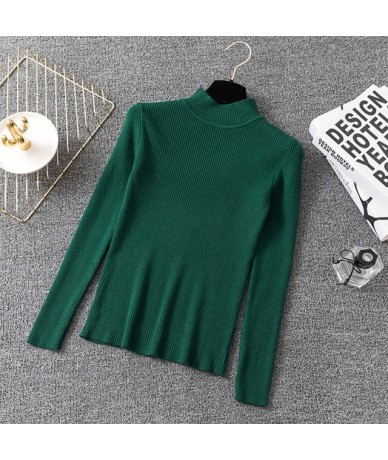 Casual knitted Solid Sweater Turtleneck Primer long sleeve Slim tight sweaters harajuku Pullovers Sweaters Spring Autumn 201...
