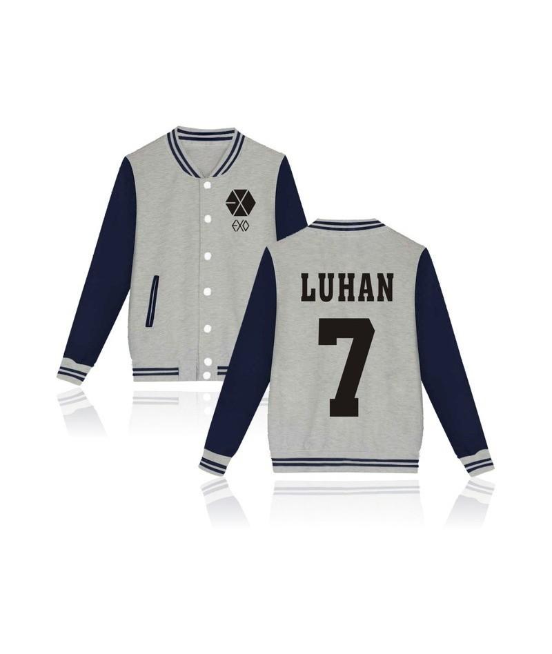 2017 EXO Kpop jaquetas feminino casaco Printed Hoodies bomber jacket baseball jacket Men/Women Tracksuit Jacket - LUHAN 7 Gr...
