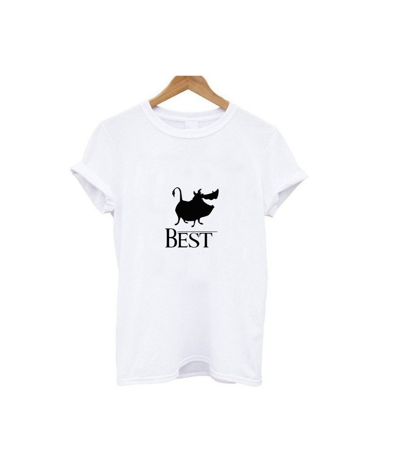 New Hot Bestie Shirts Woman Hakuna Matata Ullzang Lion King Print Leisure T-shirt Short Sleeve O Neck Tshirt - 19bk005 - 484...