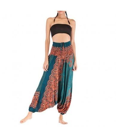 Summer Autumn pants for women Trousers Baggy Boho Aladdin Harem pantalones mujer Leisure High-waist Bohemian Loose Crotch P...