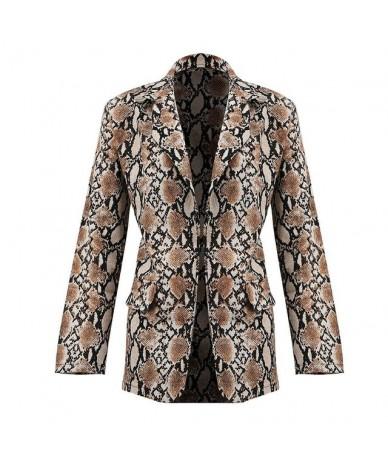 OL Elegant Vintage Women Ladies Long Sleeve Snake Print Cool Slim Blazer Suit Coat Work Jacket Formal Suit Plus Size Outwear...