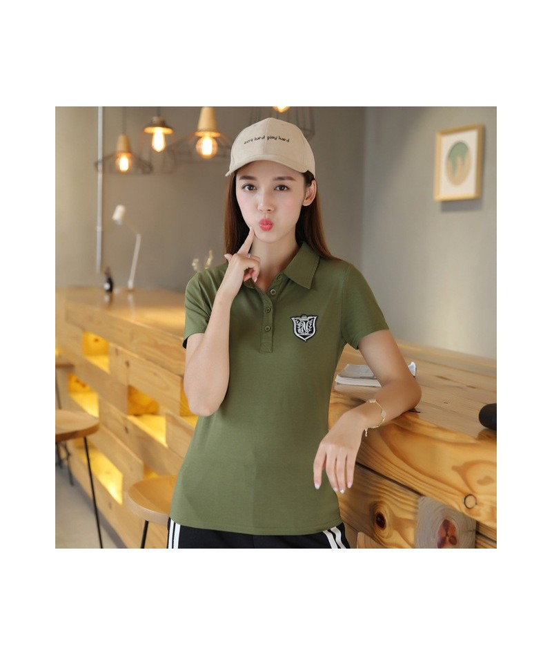 M-6xl Plus Size Summer Polo Shirt Women Embroidery Women Polos Business&leisure Slimming Cotton Polo Femme Fashion Style - A...