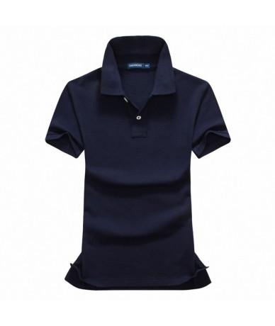 High quality 2019 Summer New womens short sleeve polos shirts casual womens lapel polos shirts cotton fashion womens slim to...