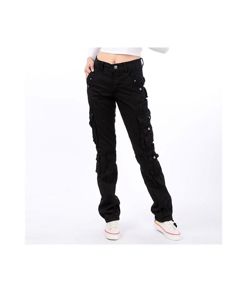 Military Camouflage pants women Army high waist loose Multi-pocket Pant versatile cotton Trouser ladies Street Jogger sweatp...
