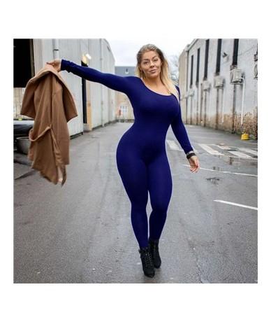 Streetwear Women Jumpsuit Elegant Mesh Lace Casual Sexy Sports Bodycon Jumpsuit Long Sleeve Temperament Tight Neon Bodysuit ...