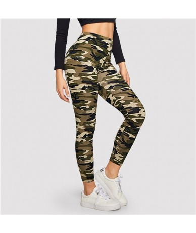 Camo Print Leggings Women Leggings 2019 Casual Style Spring Summer Autumn Stretchy Fitness Crop Leggings - Army Green - 4D41...