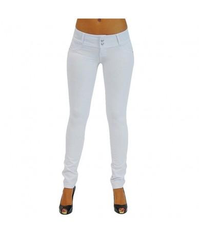 New Fashion Skinny Slim Thin High Elastic Waist Washed Jeans Jeggings Pencil Pants Denim Leggings For Women 2018 Spring Autu...
