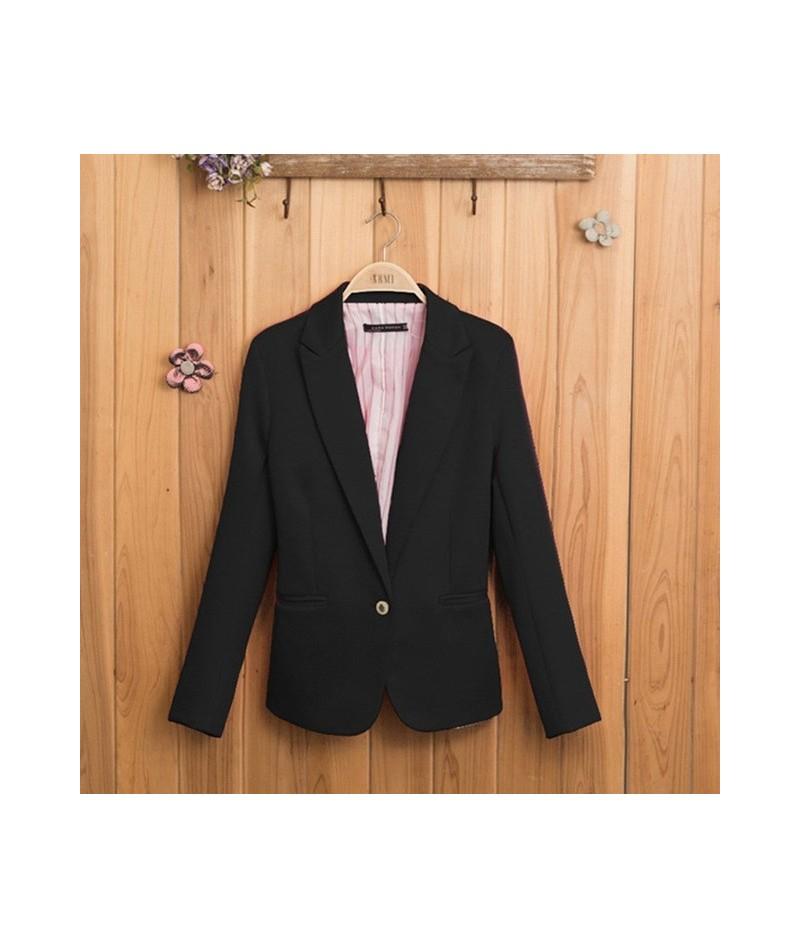 Fashion 2019 Spring Autumn Blazer Women Suit Foldable Brand Jacket Made Of Cotton & Spandex Ladies Refresh Blazers Candy Col...