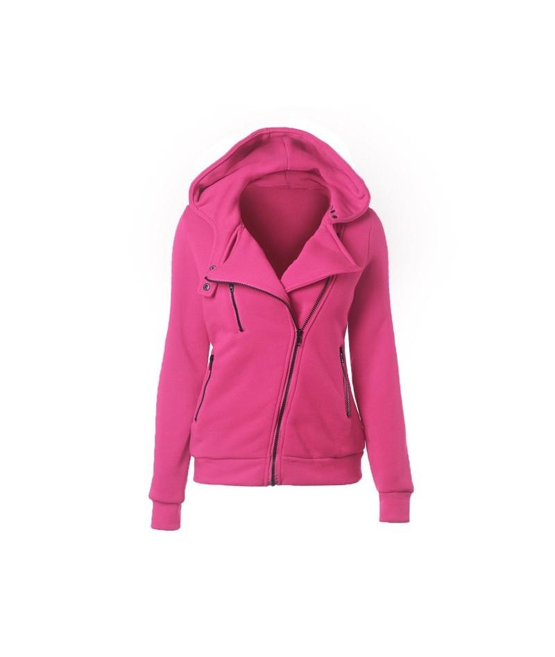 2018 Autumn and Winter Women Hoodies Casual Solid Long Sleeve Zipper Fleece Sweatshirts Sportwear Outwear Mujer Sudaderas - ...