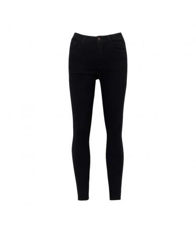Basic Jeans Women Fashion Pencil Jeans Casual Denim Stretch Skinny Jeans Femal Vintage Mid Waist Jeans Women Slim Pants - bl...