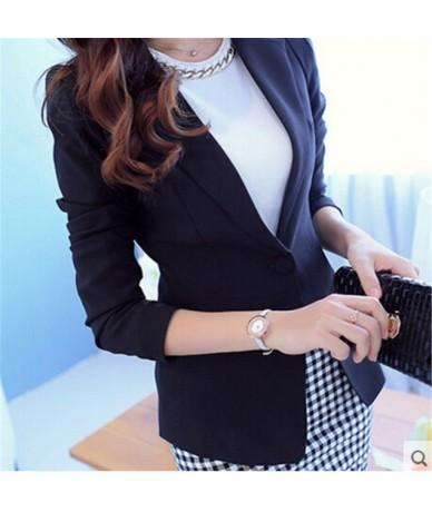 Women Blazers And Jackets Suit Spring Autumn Fashion Single Button Blaser Female White /Black /Pink /Blue Ladies Blazer Femm...