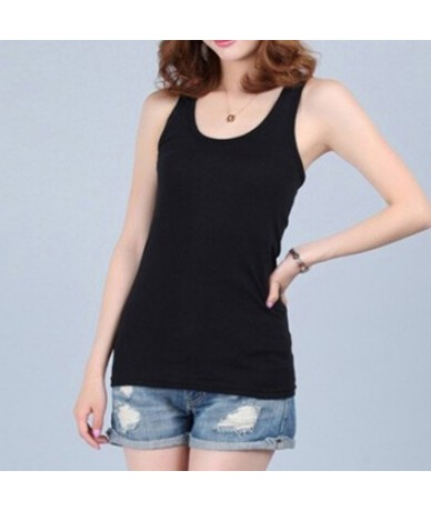 New Camis Tees For Woman Sexy Top White Black Multicolor Vest Solid Slim Women tank Tops Summer Sleeveless Jersey Cotton Tan...