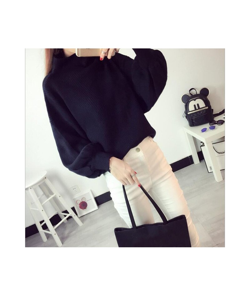 2019 Hot Selling New Women's Wool Sweater Warm Spring Autumn Winter Casual Long Sleeved Pullover - Black - 4C3945449707-1
