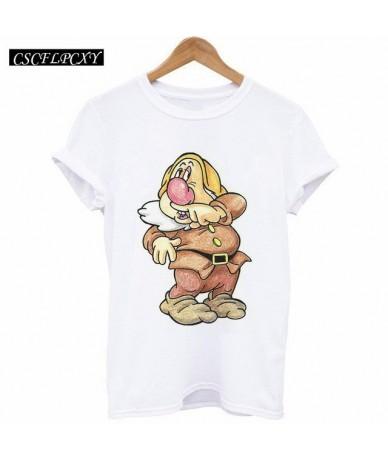 2017 Summer Tops Women Clothing Cute 7 Dwarfs Loose Tshirt Cartoon 3d Print Tshirt Camisetas Mujer Short Sleeve Tee Shirt Fe...