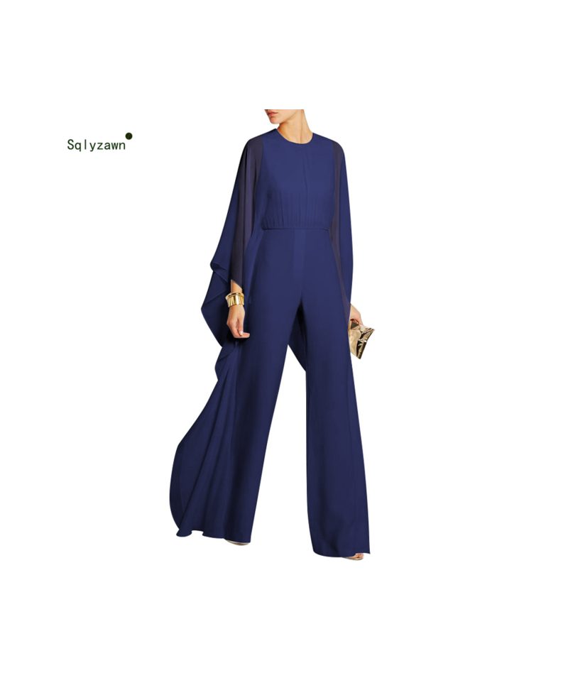 Office Lady Solid Color Zipper Jumpsuits Women Vintage Ruffles Pleated Loose Bodysuits See Through Long Sleeve Romper Plus S...