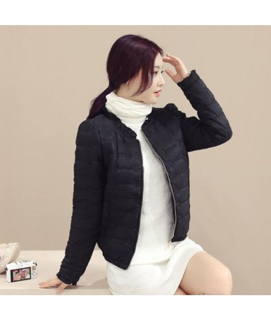 2018 Fashion Winter Jacket Women Short Style Parkas Coat Slim Casual Winter Coat Women Warm Jacket Femme NS4020 - black - 4C...