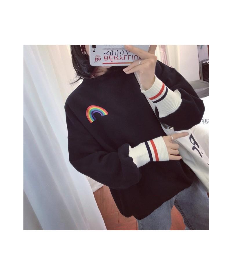 Hoodies Women O-Neck Kawaii Harajuku Printed Long Sleeve Christmas Gifts Womens Korean Ulzzang Sweatshirt All-match Thicker ...