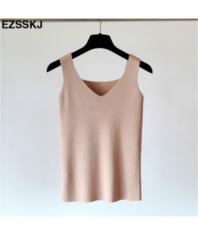 Sexy Knitted Top Summer Tank top Women big size camisole Blouse Sleeveless V Neck Slim Top Female t-shirt Vest Casual Camis ...