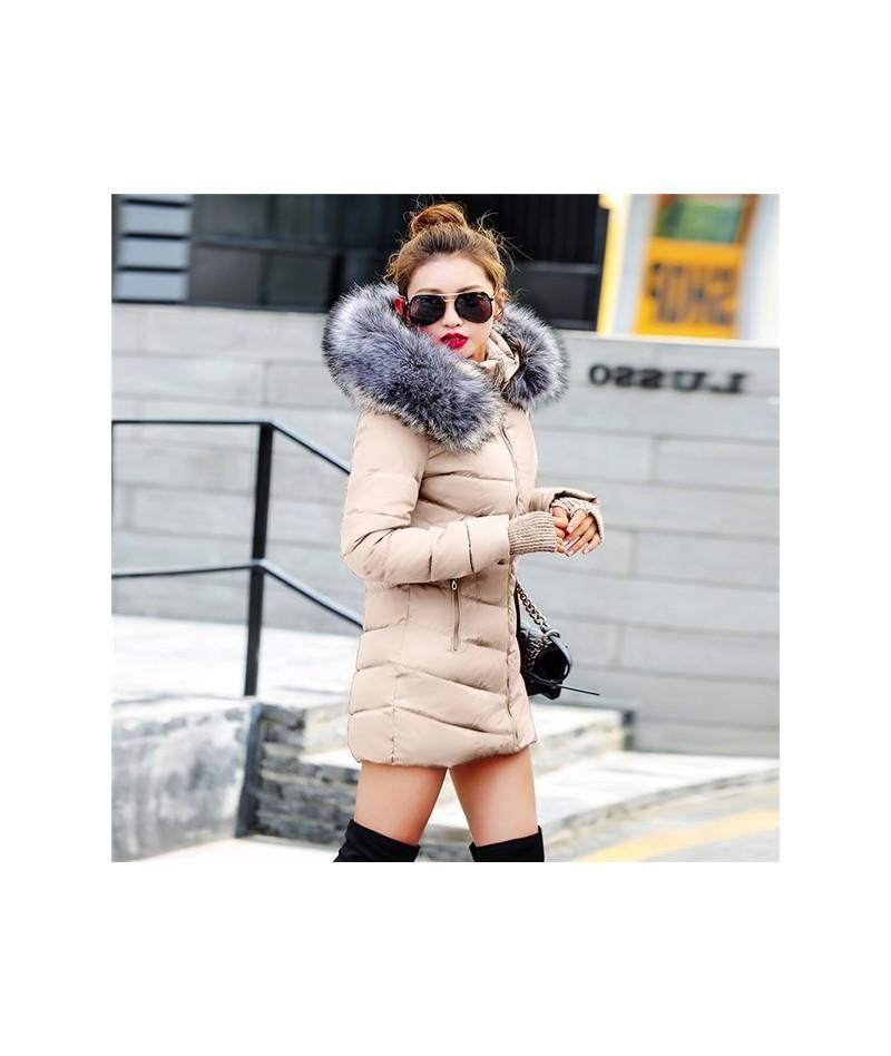 Winter Jacket Women Parkas for Coat Female 2019 Faux raccoon fur plus size 3XL outerwear long jacket slim jaqueta feminina -...