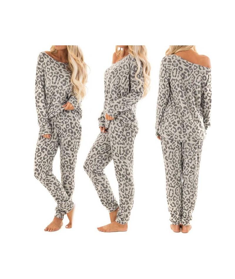 2Pcs Women Tracksuit Leopard Print Pants Sets Leisure Wear Lounge Wear Suit Leopard Hoodies Sweatshirt Long Pants Dropship -...