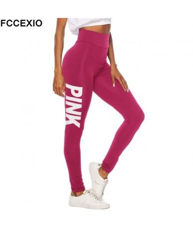 New 2019 Love Pink Fitness Elastic Sporting Leggings Women Workout Legging High Waist Sporting Patchwork Women Leggings - Re...