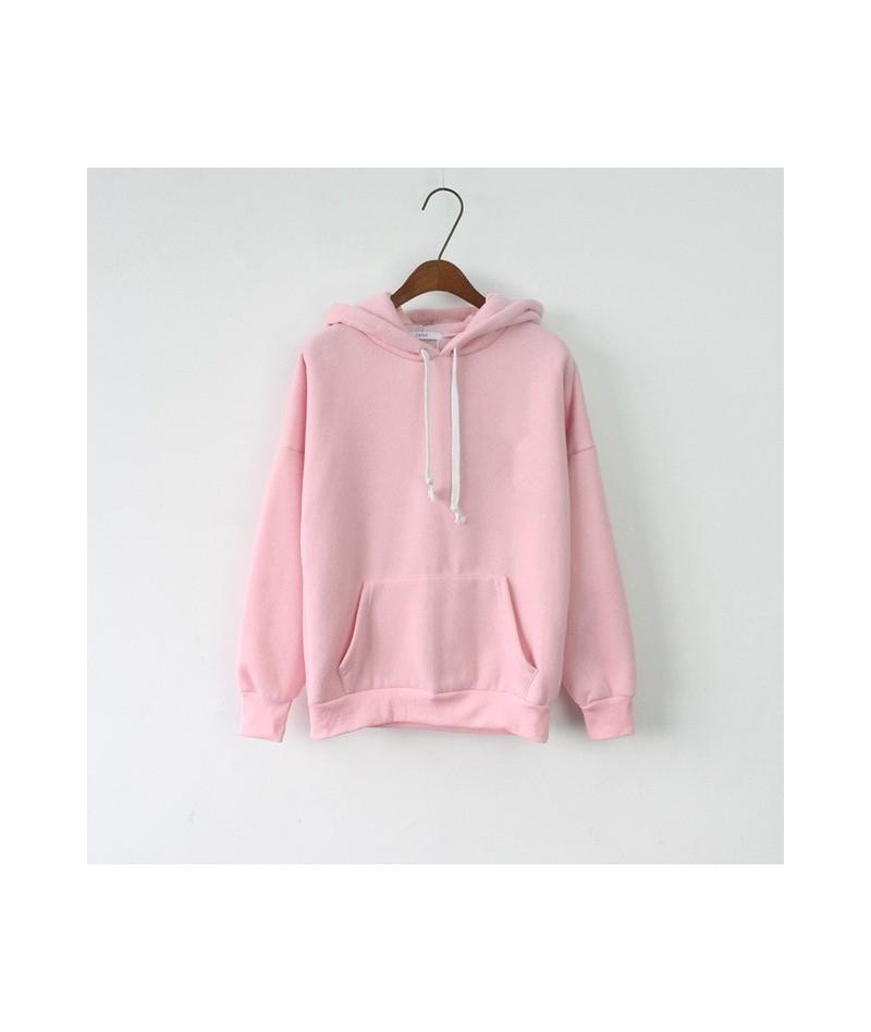 2019 Pink Hoodies Women Sweatshirt Female Tops Long Sleeve Casual Harajuku Solid Winter Hoodie Pullover Sudaderas Mujer Clot...