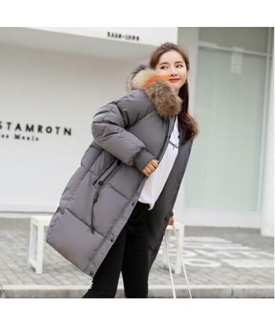 Faux Fur Hooded Jacket Winter Women Jacket Cotton Padded Thick Warm Overcoat Coat Women Elegant Parka Female Long Coat NS401...