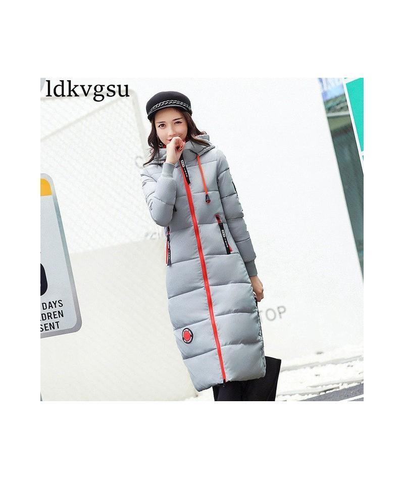 2019 Fashion Winter Jacket Long Warm Parkas Women Cotton Coat Long Sleeve Hooded Solid Color Women Outerwear Plus Size A781 ...