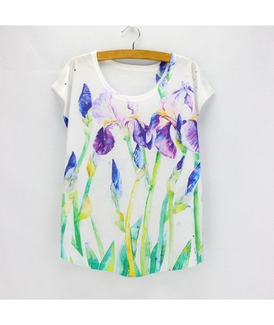 New fashion Flower Elephant printed t shirts women summer tees 2016 novelty design casual top tees for girls - HS441 - 4O373...