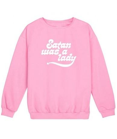 satan was a lady slogan fashion devil sweatshirt Unisex Jumper tumblr casual tops high quality pullovers black white grey pi...