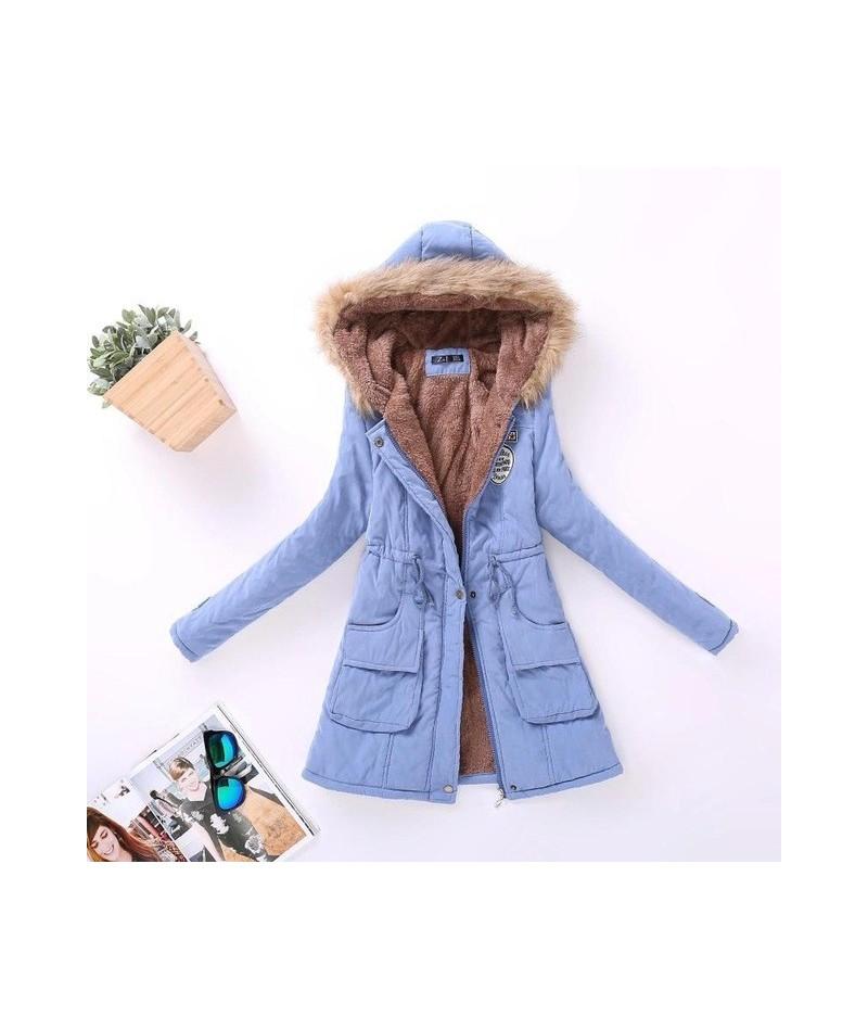 New Autumn Winter Women Jacket Cotton Padded Casual Slim Coat Emboridery Hooded Parkas Plus Size 3xl Wadded Overcoat - 11 - ...