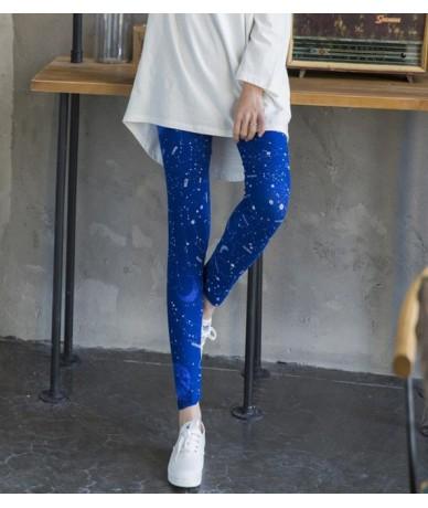 2019 Women Lip Print Leggings High Waist Thin stretch Leggins Fashion Ankle Skinny Pants Sexy Slim Ladies leggings Female - ...